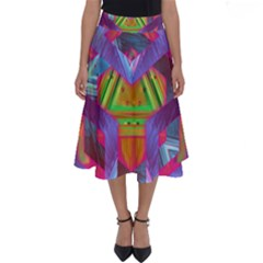 Glitch Glitch Art Grunge Distortion Perfect Length Midi Skirt
