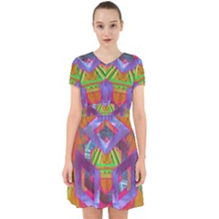 Glitch Glitch Art Grunge Distortion Adorable In Chiffon Dress by Nexatart