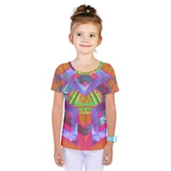 Glitch Glitch Art Grunge Distortion Kids  One Piece Tee by Nexatart