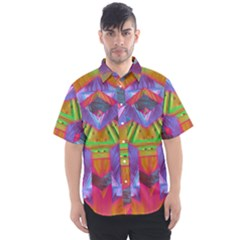 Glitch Glitch Art Grunge Distortion Men s Short Sleeve Shirt