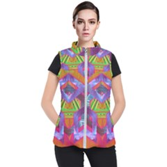 Glitch Glitch Art Grunge Distortion Women s Puffer Vest