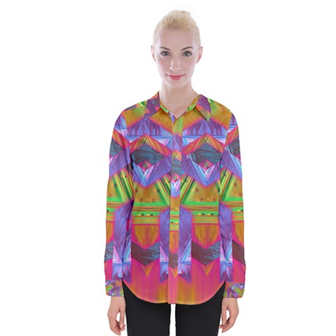 Glitch Glitch Art Grunge Distortion Womens Long Sleeve Shirt by Nexatart