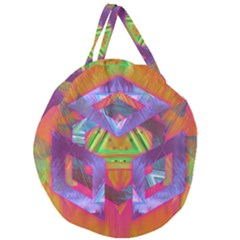 Glitch Glitch Art Grunge Distortion Giant Round Zipper Tote