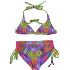 Glitch Glitch Art Grunge Distortion Kids  Classic Bikini Set by Nexatart