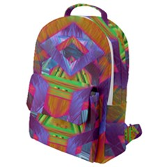 Glitch Glitch Art Grunge Distortion Flap Pocket Backpack (small)