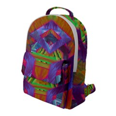 Glitch Glitch Art Grunge Distortion Flap Pocket Backpack (large)