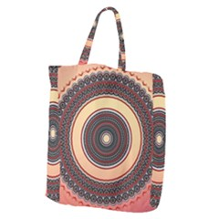 Ornamental Shape Concentric Round Giant Grocery Tote