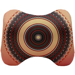 Ornamental Shape Concentric Round Head Support Cushion