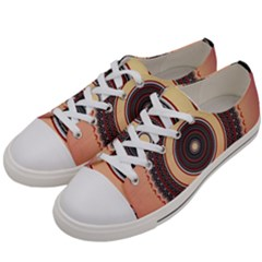 Ornamental Shape Concentric Round Women s Low Top Canvas Sneakers by Nexatart