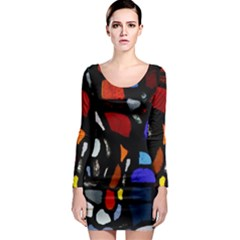 Art Bright Lead Glass Pattern Long Sleeve Bodycon Dress by Nexatart