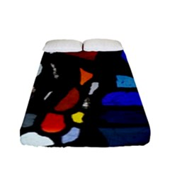 Art Bright Lead Glass Pattern Fitted Sheet (full/ Double Size)