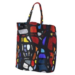 Art Bright Lead Glass Pattern Giant Grocery Tote
