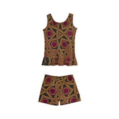 Beautiful Art Pattern Kid s Boyleg Swimsuit