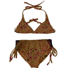 Beautiful Art Pattern Kids  Classic Bikini Set