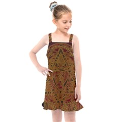 Beautiful Art Pattern Kids  Overall Dress