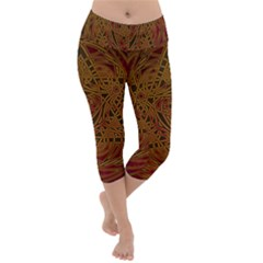 Beautiful Art Pattern Lightweight Velour Capri Yoga Leggings