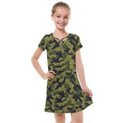 Camouflage 04 Kids  Cross Web Dress by quinncafe82