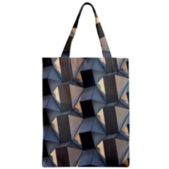 3d Pattern Texture Form Background Zipper Classic Tote Bag