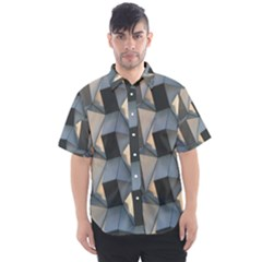 3d Pattern Texture Form Background Men s Short Sleeve Shirt
