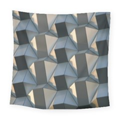 3d Pattern Texture Form Background Square Tapestry (large) by Nexatart