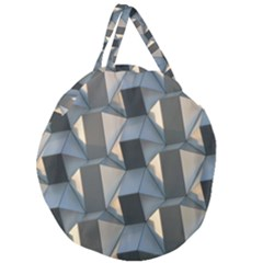 3d Pattern Texture Form Background Giant Round Zipper Tote