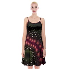 Background Texture Pattern Spaghetti Strap Velvet Dress