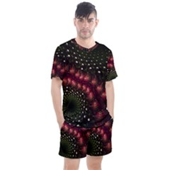 Background Texture Pattern Men s Mesh Tee And Shorts Set