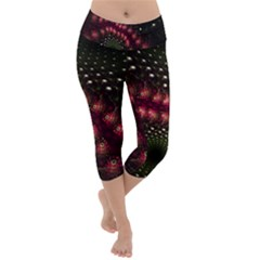 Background Texture Pattern Lightweight Velour Capri Yoga Leggings