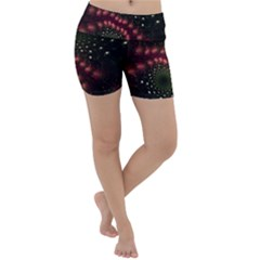 Background Texture Pattern Lightweight Velour Yoga Shorts
