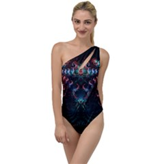 Background Texture Pattern To One Side Swimsuit