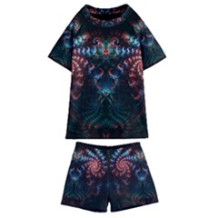 Background Texture Pattern Kids  Swim Tee And Shorts Set by Nexatart