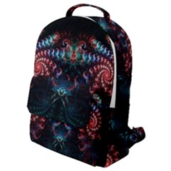 Background Texture Pattern Flap Pocket Backpack (small)