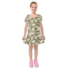 Camouflage 03 Kids  Short Sleeve Velvet Dress by quinncafe82