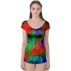Color Art Bright Decoration Boyleg Leotard  by Nexatart