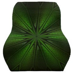 Green Fractal Art Artistic Pattern Car Seat Back Cushion