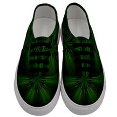 Green Fractal Art Artistic Pattern Men s Classic Low Top Sneakers