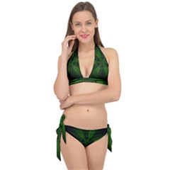 Green Fractal Art Artistic Pattern Tie It Up Bikini Set