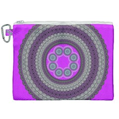 Round Pattern Ethnic Design Canvas Cosmetic Bag (xxl) by Nexatart