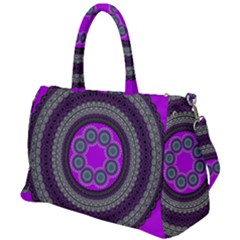 Round Pattern Ethnic Design Duffel Travel Bag