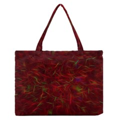 Abstract Pattern Color Shape Zipper Medium Tote Bag by Nexatart