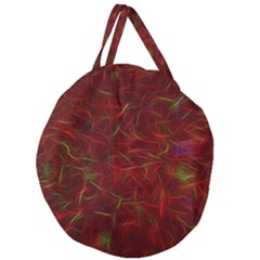 Abstract Pattern Color Shape Giant Round Zipper Tote