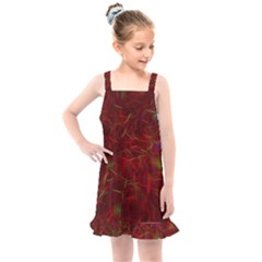 Abstract Pattern Color Shape Kids  Overall Dress