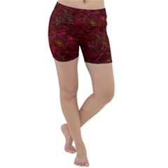 Abstract Pattern Color Shape Lightweight Velour Yoga Shorts