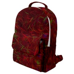 Abstract Pattern Color Shape Flap Pocket Backpack (small)