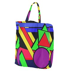 Background Color Art Pattern Form Giant Grocery Tote
