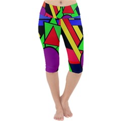 Background Color Art Pattern Form Lightweight Velour Cropped Yoga Leggings