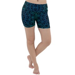 Background Lines Pattern Line Art Lightweight Velour Yoga Shorts