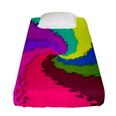 Art Abstract Pattern Color Fitted Sheet (single Size)