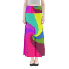 Art Abstract Pattern Color Full Length Maxi Skirt