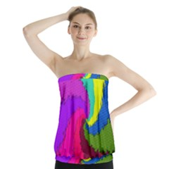 Art Abstract Pattern Color Strapless Top by Nexatart
